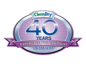 chem dry 40 years of carpet cleaning badge